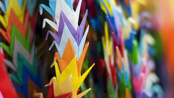Riddhiculous Origami Cranes for peace