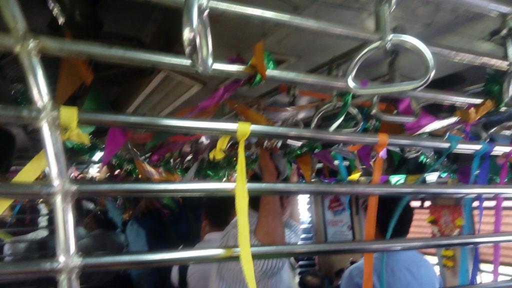 riddhiculous decorated train mumbai local